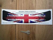 Union Jack Usado Con Casco Visor sunstrip pegatina de coche de carreras de bicicleta Bandera Gb