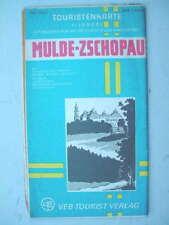 8647 Touristenkarte MULDE ZSCHOPAU  Karl Marx Stadt1980