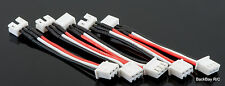 5 Pack: E-Flite Blade 130x (UMX) to 2S JST-XH Lipo Charger Adapters w/ 5CM 26awg