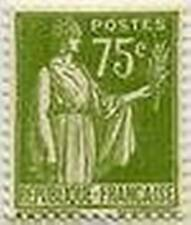 "FRANCE STAMP TIMBRE N° 284A "" TYPE PAIX 75 C OLIVE "" NEUF x TB"