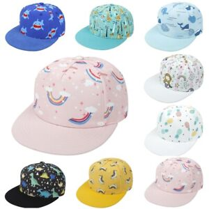 2-8 Yrs Children Baseball Cap Kids Boys Girls Snapback Hip Hop Printing Sun Hats