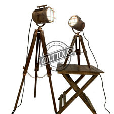 Led Christmas Floor Lamps Industrial Standing Wood Light Reading Bedside Copper