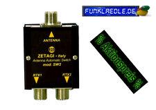 Zetagi SW2 (komp.mit QRV-25) automatischer Antennenschalter 2-fach, CB Funk 25W
