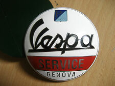 Vintage Scooter Piaggio Badge Metal Decal Vespa 125  150  Mods  Service Genova