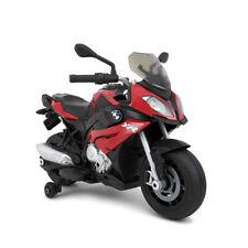 Moto motocicletta elettrica per bambini 12V BMW S1000XR rossa 4,5km/h