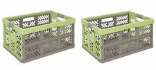 2x Pro Foldable box TUV certified 45 L bis 50 kg green Folding box Box Crate