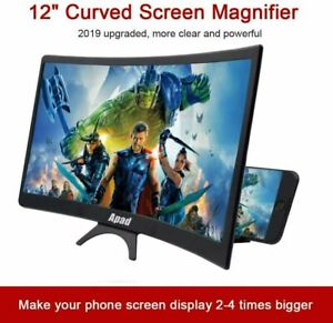 """12"""" Folding Screen Magnifier 3D Amplifier Stand Mobile Phone Adjustable HD Video"""