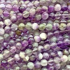 Amethyst Purple 6mm Round Ball Semi Precious Stone Beads Q30 Beads per Pkg