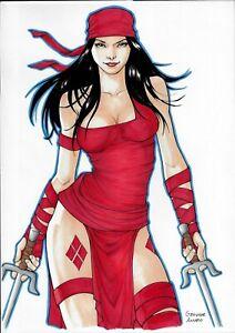 "🆕 Elektra (11""x17"") original comic art 1/1 by Geovane Amaro - Cosmotrama"