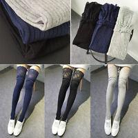 Women Crochet Lace Knee High Socks Trim Cotton Boot Stockings Knit Leg Warmers