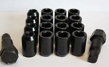 12 X M12 X 1.5 BLACK TUNER WHEEL NUTS & LOCKING FIT FORD PUMA FIESTA MK6 7 8