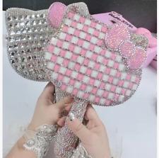 Worldwide Shipping* Hello Kitty PINK Mirror Handmade Crystal Shining 1pc