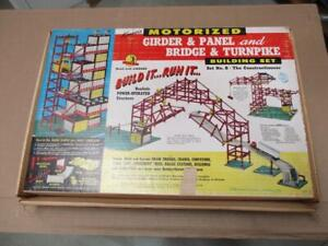 1960s Kenner Toys Bridge and Turnpike Motorized Building Set No. 8 with Cars
