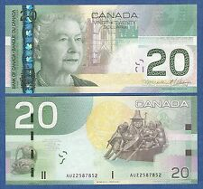 CANADA 20 Dollar 2004 - 2011 (1 Note) UNC P 103 h Low Shipping! Combine FREE!