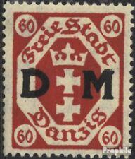 Danzig D9 postfris 1921 Officieel stempel