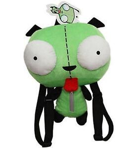 Green Alien Invader Zim Robot Gir Stuffed Plush Backpack Bag CUTE 14 Inch New