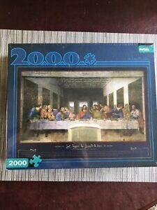 SEALED NEW The Last Supper by Leonardo Da Vinci 2000 Piece Puzzle Buffalo Games