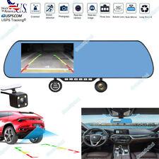 """5.0"""" HD 1080P Rear View Mirror CAR DVR Three Lens Recorder Car Dash Cam W940"""