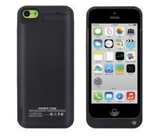 External Power Battery Bank Backup Case For iPhone 5 5s 5c Black 2200mAh