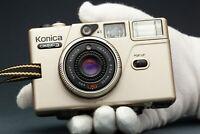 Konica C35 EF3 35mm Point & Shoot Camera Hexanon 35mm F2.8 Lens   Working   Lomo