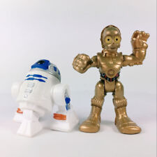 "Lot2 Star Wars 2.5"" Playskool Galactic Heroes Astromech Droid R2D2 C3PO Figure"