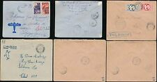FRENCH AFRICA 1942-45 INTERNAL AIRMAIL AEF TCHAD...3 COVERS