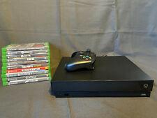 xbox one x 1tb mit Controller schwarz sehr guter Zustand inkl. 10 Games