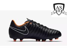 Nike Tiempo Legend 7 Club Fg Soccer Cleats Black Orange Ah7255-080 Size 5.5