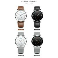 CADISEN casual ultra-thin quartz men's watch waterproof steel/leather belt round