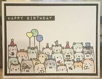 handmade Card Kit Stampin' Up! Cats Birthday