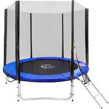 Trampolino elastico da giardino con rete di sicurezza scaletta Ø 244 cm TÜV/GS n