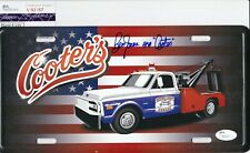 BEN JONES Signed Autograph Metal License Plate Cooters THE DUKES OF HAZZARD JSA