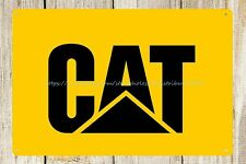 art work Catepillar Cat heavy equipment machinery farm metal tin sign