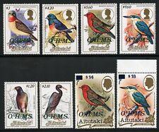 Aitutaki 1986  - 1990 Dienstmarken Vögel OHMS Eisvogel 34-41 MNH / 316