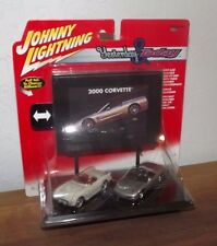 JOHNNY LIGHTNING YESTERDAY AND TODAY 2 CAR SET CORVETTE CHANGING SCREEN