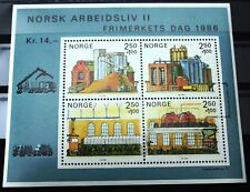 Norway Block 1986 Pulp & Paper Industries - Day of Stamps 1986 - MNH