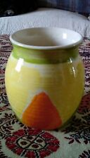 STUDIO POTTERY POT MADE BY COWSHED POTTERY FALMOUTH CORNWALL 1980s