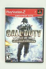 Call of Duty World at War  Final Fronts  Sony PlayStation 2 PS2 Complete