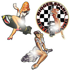 Pin Up Set Aufkleber Sticker Rockabilly Oldschool Hot Rod V8 US-Cars Retro OEM