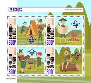 Niger Scouting Stamps 2020 MNH Boy Girl Scouts 4v M/S