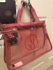 ARMANI JEANS AUTHENTIC PINK CLEAR BAG WITH DUST BAG