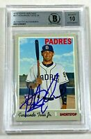 Padres FERNANDO TATIS JR Signed 2019 Topps Heritage Update Card Beckett AUTO 10