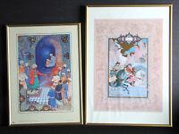 2 Persian Prints Mir Emad The Calligrapher and Gordafarid dueling Sohrab FREE SH