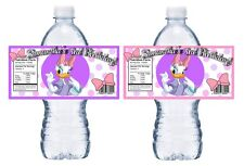 20 DAISY DUCK PERSONALIZED BIRTHDAY PARTY FAVORS ~ WATER BOTTLE LABELS WRAPPERS