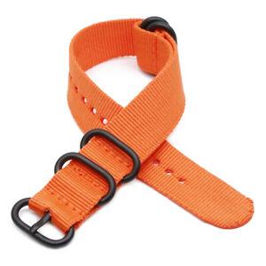 Wrist Watch Watchband Heavy Strap Nylon Fashion Mens Women 18MM 20MM 22MM 24MM