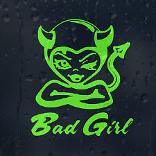 Lime Green Bad Girl Devil Car Decal Vinyl Sticker For Window Or Bumper Or Panel