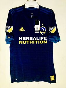 Adidas MLS Los Angeles Galaxy Authentic Team Jersey Navy sz L