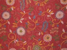 """Highland Court """"Flowers and Frills"""",  embroidered floral brocade remnant,  pink"""