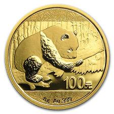2016 China 8 gram Gold Panda BU (Sealed) SKU - #92375