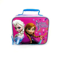 Disney Frozen Lunch Bag Box New Pink Purple Anna Elsa Sisters Forever
